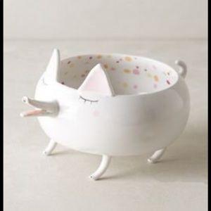 NIB Anthropologie Domesticated Trinket Dish - dog